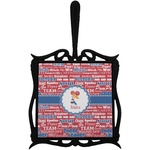 Cheerleader Trivet with Handle (Personalized)