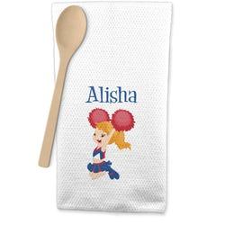 Cheerleader Waffle Weave Kitchen Towel (Personalized)