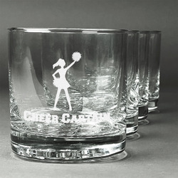 Cheerleader Whiskey Glasses (Set of 4) (Personalized)