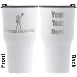 Cheerleader RTIC Tumbler - White - Engraved Front & Back (Personalized)