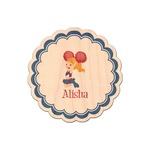 Cheerleader Genuine Wood Sticker (Personalized)