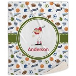 Sports Sherpa Throw Blanket (Personalized)