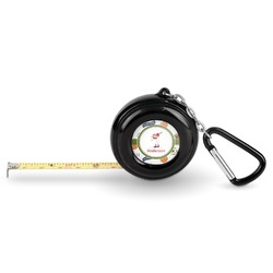 Sports Pocket Tape Measure - 6 Ft w/ Carabiner Clip (Personalized)