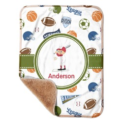 "Sports Sherpa Baby Blanket 30"" x 40"" (Personalized)"