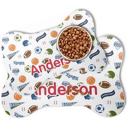 Sports Bone Shaped Dog Food Mat (Personalized)