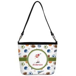 Sports Bucket Bag w/ Genuine Leather Trim (Personalized)