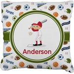 Sports Faux-Linen Throw Pillow (Personalized)