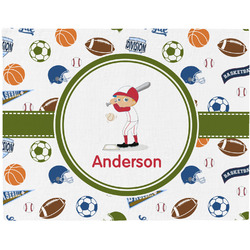 Sports Woven Fabric Placemat - Twill w/ Name or Text