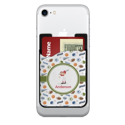 Sports 2-in-1 Cell Phone Credit Card Holder & Screen Cleaner (Personalized)