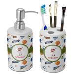 Sports Bathroom Accessories Set (Ceramic) (Personalized)