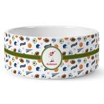 Sports Ceramic Dog Bowl (Personalized)