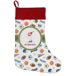 Sports Holiday Stocking w/ Name or Text