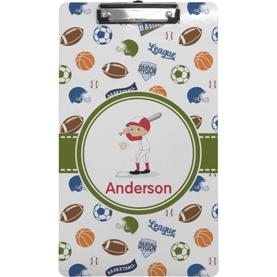 Sports Clipboard (Legal Size) (Personalized)