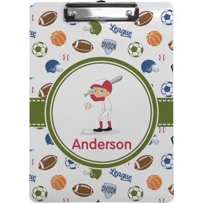 Sports Clipboard (Letter Size) (Personalized)