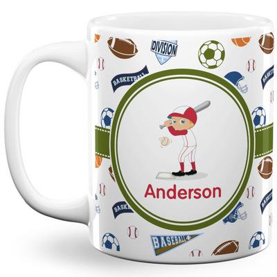 Sports 11 Oz Coffee Mug - White (Personalized)