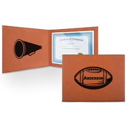 Sports Leatherette Certificate Holder (Personalized)