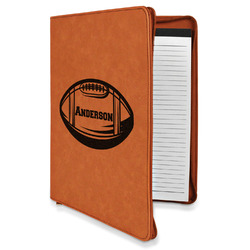 Sports Leatherette Zipper Portfolio with Notepad (Personalized)