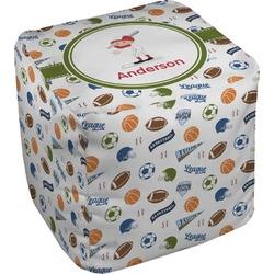 "Sports Cube Pouf Ottoman - 18"" (Personalized)"