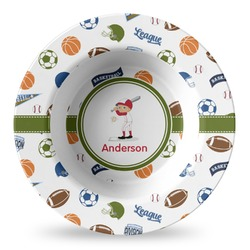 Sports Plastic Bowl - Microwave Safe - Composite Polymer (Personalized)