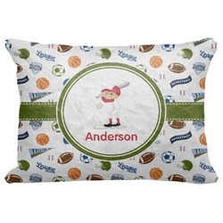 "Sports Decorative Baby Pillowcase - 16""x12"" (Personalized)"