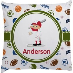 Sports Decorative Pillow Case (Personalized)