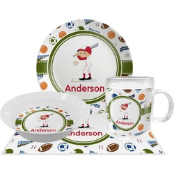 Sports Dinner Set - 4 Pc (Personalized)