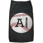 Sports Black Pet Shirt (Personalized)
