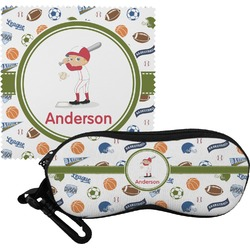 Sports Eyeglass Case & Cloth (Personalized)