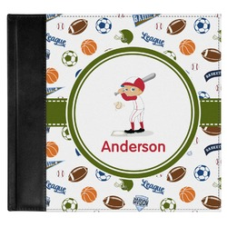 Sports Genuine Leather Baby Memory Book (Personalized)