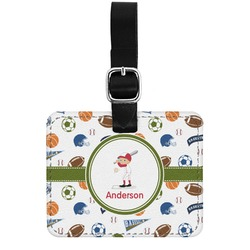 Sports Genuine Leather Rectangular  Luggage Tag (Personalized)