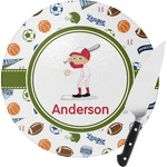 Sports Round Glass Cutting Board (Personalized)