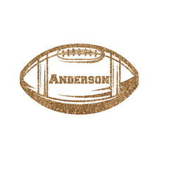 Sports Glitter Iron On Transfer- Custom Sized (Personalized)