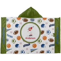 Sports Kids Hooded Towel (Personalized)