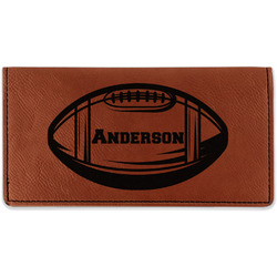 Sports Leatherette Checkbook Holder (Personalized)