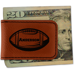 Sports Leatherette Magnetic Money Clip - Single Sided (Personalized)