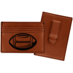 Sports Leatherette Wallet with Money Clip (Personalized)