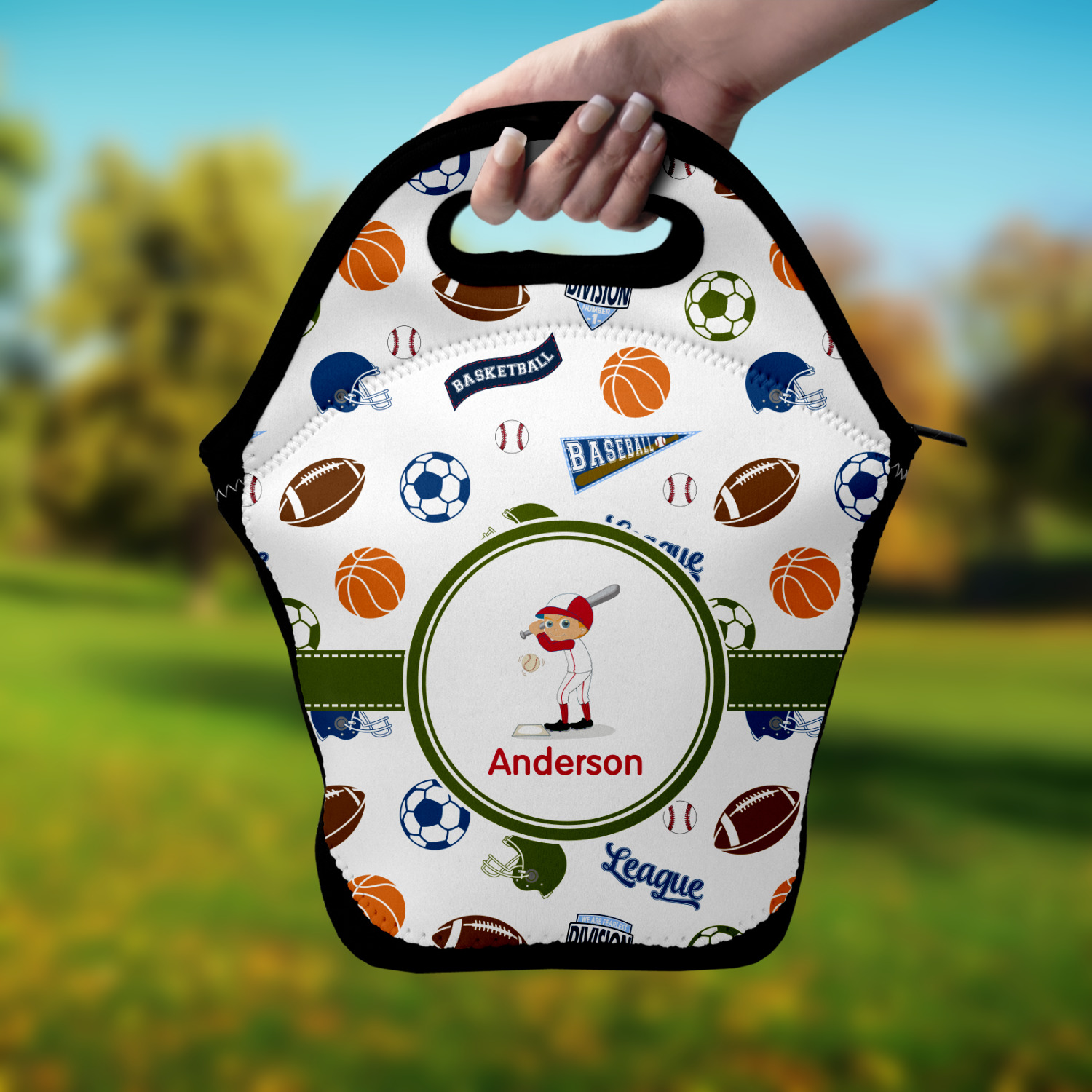 Sports Lunch Bag Personalized