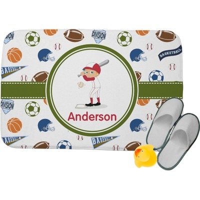 Sports Memory Foam Bath Mat (Personalized)