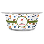 Sports Stainless Steel Dog Bowl (Personalized)