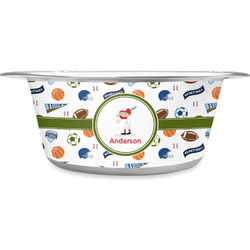Sports Stainless Steel Pet Bowl (Personalized)