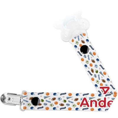 Sports Pacifier Clips (Personalized)