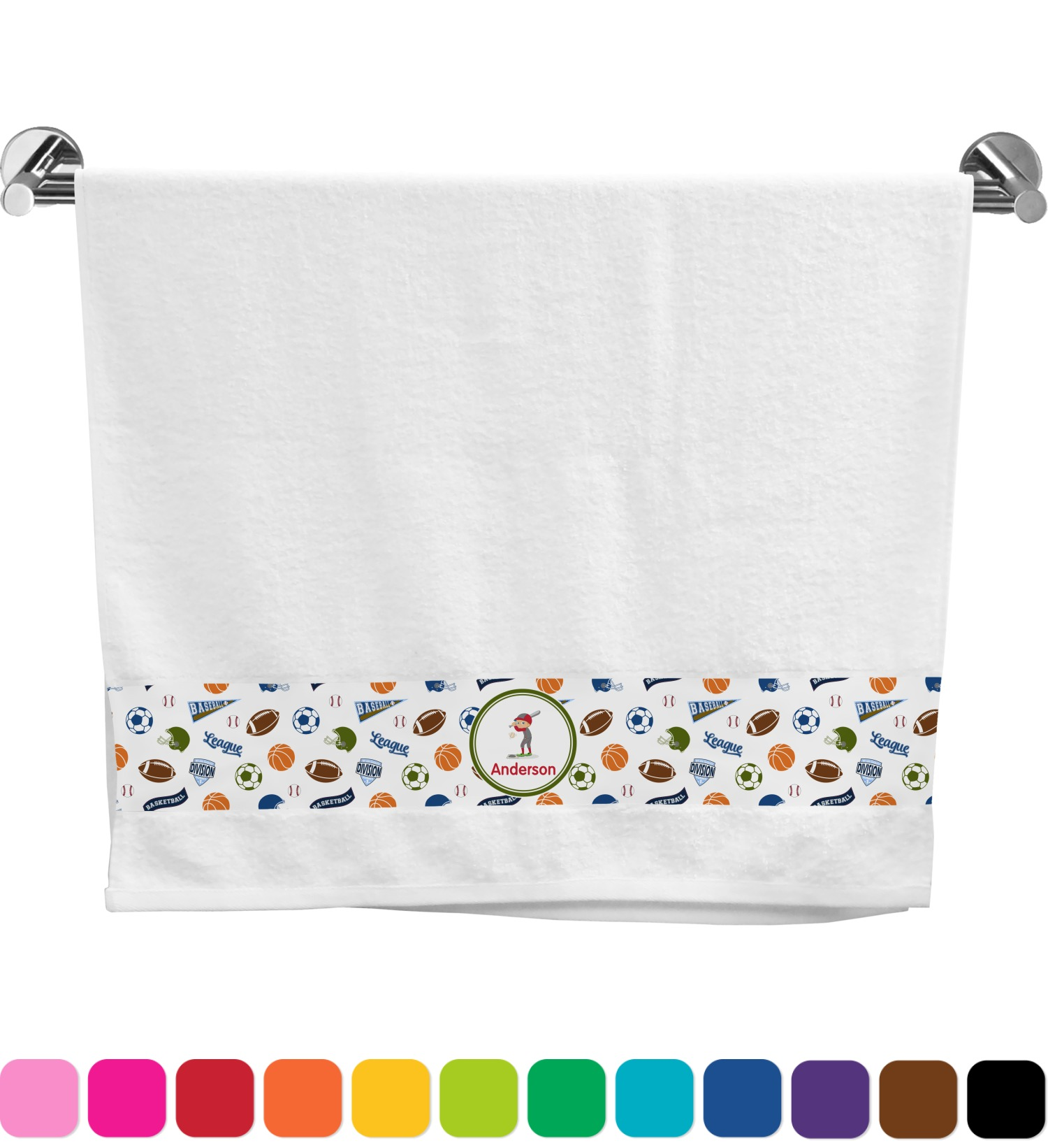Sports Bath Towel Personalized Youcustomizeit