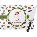 Sports Rectangular Glass Cutting Board (Personalized)