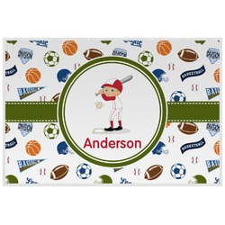 Sports Laminated Placemat w/ Name or Text
