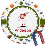 Sports Round Magnet (Personalized)