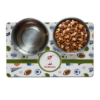 Sports Dog Food Mat (Personalized)