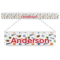 """Sports Plastic Ruler - 12"""" (Personalized)"""