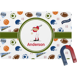 Sports Rectangular Fridge Magnet (Personalized)