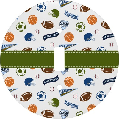 Sports Round Light Switch Cover (Personalized)