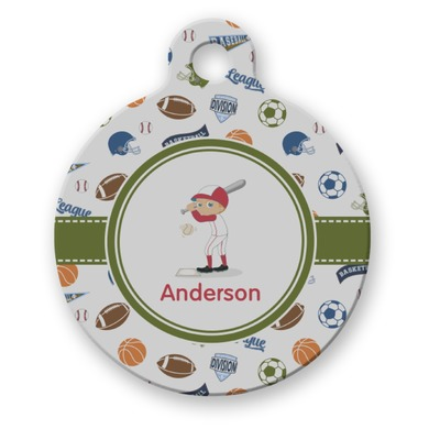 Sports Round Pet ID Tag (Personalized)